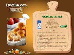 Cocina con Feiraco magdalenas de nata
